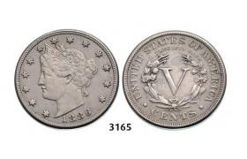 3165, United States, Liberty Nickel (5 Cents) 1886, Dark Grey Toning, High Grade