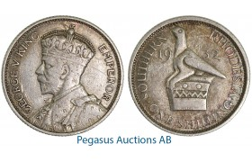 A48, Southern Rhodesia (Zimbabwe) George V, Shilling 1932, Few Straches!