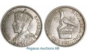 A49, Southern Rhodesia (Zimbabwe) George V, Shilling 1936, Very Nice!