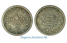 A87, Ottoman Empire/Turkey, Abdul Mejid, 5 Kurush AH1255/14, Silver