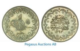 A89, Ottoman Empire/Turkey, Abdul Hamid II, 5 Kurush AH1293/17, Silver, UNC!