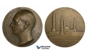 AA005 France & Egypt, Bronze Medal 1930 (Ø68mm, 145.5g) by Maillard, Cairo Exhibition, Georges Philippar