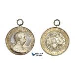 AA006 Germany, Albert of Saxony, Silver Medal 1889 (Ø43mm, 19.7g) Plauen Shooting Contest