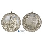 AA008 Germany, Saxony Silver Medal 1901 (Ø39mm, 20.8g) Weissenfels Pistol Shooting Contest, Very Rare!