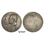 AA010 Austria & Italy, Tyrol, Silver Medal 1911 (Ø45mm, 39.5g) by Placht, Bolzano Shooting Contest, Franz Hepperger