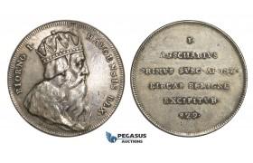 AA014, Sweden, Silver Medal (c. 1700) (Ø33mm, 14g) by Hedlinger, King Bjorn I