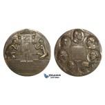 AA018, Sweden, Bronze Art Nouveau Medal 1908 (Ø70mm, 138g) by Lindberg, Swedish Medical Association Centenary