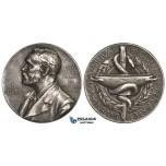 AA022, Sweden, Silver Medal ND (Ø27mm, 11.8g) Alfred Nobel, Swedish Medical Society