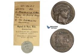 AA025-R, Roman Republic, L. Scribonius Libo (62 BC) AR Denarius (2.92g) Rome,  62 BC, Cabinet Patina, ex. Spink