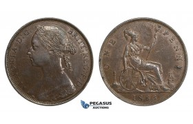 AA118, Great Britain, Victoria, Penny 1883, aXF (minimally bent)