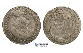 AA155, Poland, Johann Casimir, Ort (1/4 Taler) 1656, Danzig, Silver (5.60g) aVF