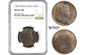 AA405, Hong Kong, Edward VII, Cent 1902, NGC MS61BN