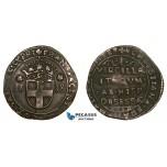 AA760, Italy, Savoy, Siege of Vercelli, Francesco Giacinto, Soldo? 1638, Billon? (5.47g) Extremely Rare!