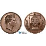 AA766, France, Bronze Medal 1804 (Ø34.5mm, 20.4g) by Andrieu & Denon, Napoleon Bonaparte Museum
