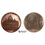 AA773, Italy & Vatican, Bronze Medal 1857 (Ø60mm, 87g) by Wiener, Rome Saint Peter's Cathedral