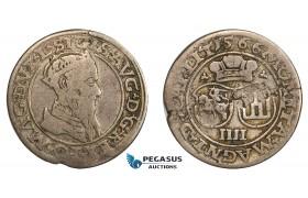 AA810, Lithuania, Sigismund II Augustus, 4 Groschen 1566-SA, Vilnius, Silver (3.94g) aVF