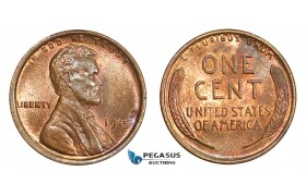 AA817, United States, Lincoln Cent 1919, Philadelphia, Red Brown UNC
