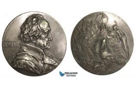 AA880, Germany, Cast Tin Medal 1899 (Ø68mm, 103g) by Scharff, Johann Wolfgang von Goethe