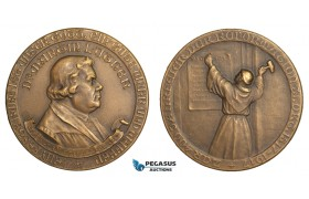 AA881, Germany, Bronze Medal 1917 (Ø51mm, 49.7g) Martin Luther, 400 Years of Reformation