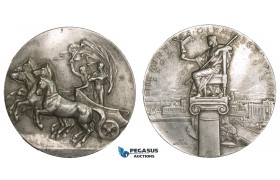 AA888, Sweden, Pewter Participation Medal 1912 (Ø51mm, 46.2g) by Lindberg & Mackennal, Stockholm Olympic Games