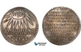 AA915, Germany, Hildesheim City (Under Swedish Possession) Gustav II Adolf, Taler ND (1632) Silver (29.09g) SB 21b (under Erfurt) VF-XF with cabinet toning!