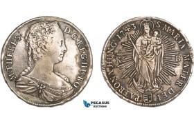 AA916, Hungary, Maria Theresia, Taler 1743 KB, Kremnitz, Silver (27.27g) XF, mount removed!