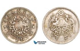 AA963, China, 10 Cents 1926 (Pu Yi Wedding) Silver, L&M 83, Dragon & Phoenix, Toned VF-XF