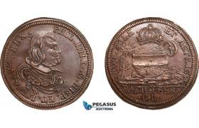 AA975, Netherlands,  Bronze Token 1650 (Ø28.7mm, 6.5g) Arrival of Queen Marie – Anne of Austria in Spain