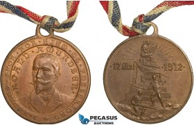 AA976, Norway, Bronze Medal 1912 (Ø27mm, 6.4g) Roald Amundsen, South Pole Explorer