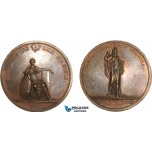 AA977, Russia, Bronze Medal 1817 (Ø56mm, 77.4g) by Tolstoi, 300 Years of Finland Reformation