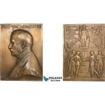AA987, Sweden, Bronze Plaque Medal 1916 (65x48mm, 87g) by Lindberg, Uppsala University, Athena