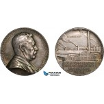 AA988, Sweden, Silver Medal 1923 (Ø31.5mm, 15g) by Lindberg, Science Academy, Industry