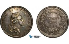 AA990, Sweden, Gustav III, Silver Swedish Academy Medal of Merit (1786) Restrike of 1919 (Ø34.5mm, 16.9) by Fehrman