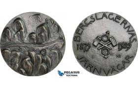 AA992, Sweden, Silver Medal 1929 (Ø50mm, 61.5g) by Milles, Train, 50 Years of Bergslagen Railroad