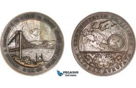 AA994, Turkey, Bronze Medal 1973 (Ø75mm, 166g) Bosphorus Bridge, Rare!
