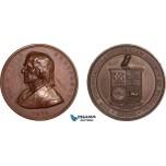 AA995, United States, Bronze Medal 1879 (Ø42mm, 49g)  Owl, Eli K. Price, Philadelphia Numismatic Society, Rare!