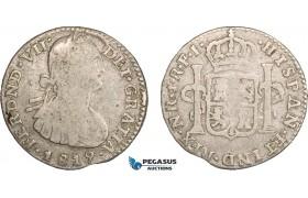 AB090, Colombia, Ferdinand VII, 1 Real 1819-NR FJ, Nuevo Reino, Silver, aVF