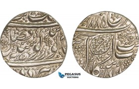 AB111, India, Sikh Empire, Rupee VS1894, fixed date VS1885, Silver (11.17g) Lustrous aUNC