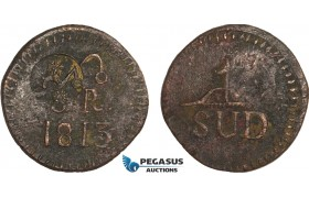 AB131, Mexico, Zacatecas, Insurgent countermarked 8 Reales 1813, C/S Morelos, KM# 265.4, VF