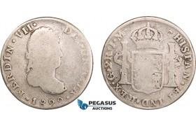 AB134, Mexico, Ferdinand VII, 2 Reales 1822 Go JM, Guanajuato, Silver, VG-F