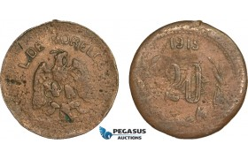 AB139, Mexico, Revolutionary, Morelos, Emiliano Zapata, 20 Centavos 1915, KM# 701, VF
