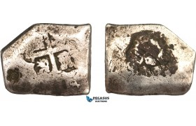 AB142, Netherlands East Indies, Madura, Sultan Paku Nata Ningrat, 1 Real Batu Cob ND (1811-54) Silver (25.72g) F-VF