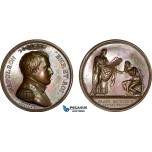 AB194, France, Napoleon Bonaparte, Bronze Judaica Medal 1806 (Ø42mm, 33.8g) by Depaulis, Jewish High Council