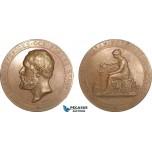AB205, Sweden, Bronze Medal 1891 (Ø56.5mm, 79.5g) by Lindberg, Owl, Goteborg Industrial Exhibition