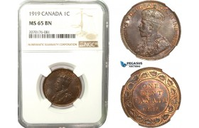 AB250, Canada, George V, 1 Cent 1919, NGC MS65BN