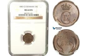 AB262, Denmark, Christian IX, 1 Øre 1883, Copenhagen, NGC MS64BN