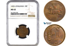 AB319, Lithuania, 10 Centu 1925, NGC MS62