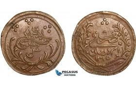 AB373, Sudan, Abdullah Ibn Mohammed, 20 Piastres AH1315/8, Khartoum, Copper, KM# 15, XF-UNC