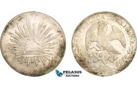 AB385, Mexico, 8 Reales 1868 Pi PS, San Louis Potosi, Silver, aUNC (Residue)