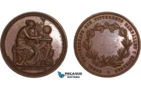 AB586, Sweden, Bronze Medal 1866 (Ø36.5, 20.8g) by Ericsson, Goteborg, Owl